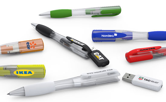 Bläck Series USB Flash Pennor med innovativa magnetiska mechanicsm