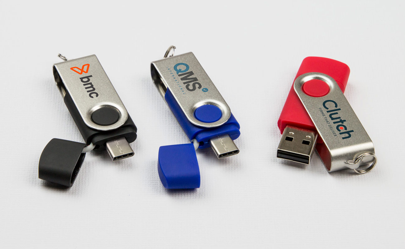 Twister Go - USB Minne Med Tryck